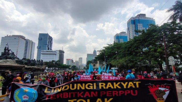 Demonstrasi Tolak UU Cipta Kerja, Sebut Pemerintahan Jokwi-Ma'ruf Gagal