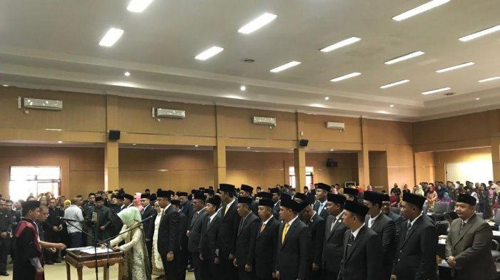 45 Anggota DPRD OKU Timur Resmi Dilantik Ketua PN Baturaja, Wakil Rakyat Bumi Sibiduk Sehaluan