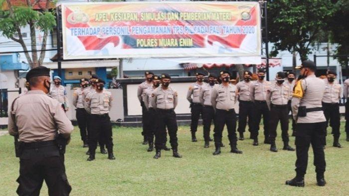 IPTU Yeri Gunawan Pimpin 50 Personil Polres Muara EnimBKO Amankan Pilkada PALI
