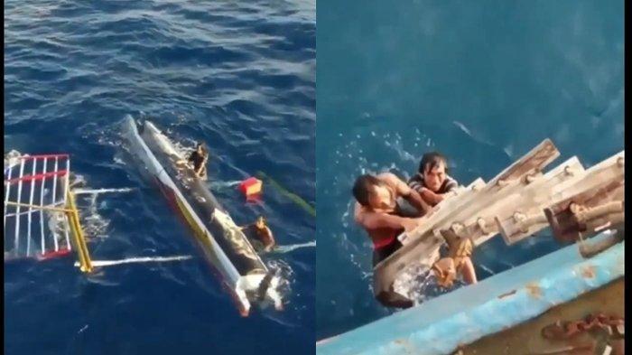 2 Nelayan Ini 3 Hari Terombang-ambing di Lautan Krui, Sangat Kelaparan, Penyelamatan yang Dramatis!