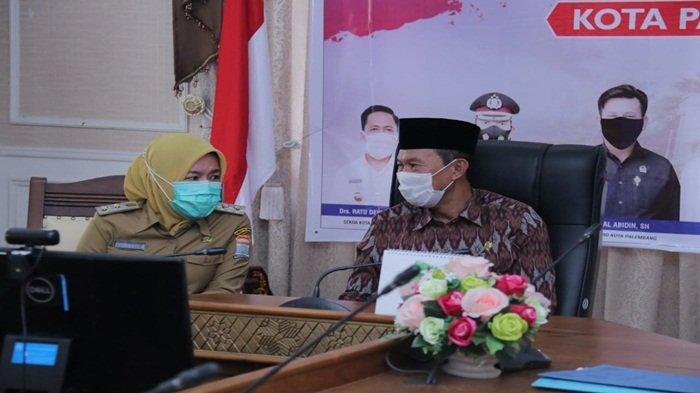 Walikota Palembang H Harnojoyo dan Wakil Walikota Palembang, Fitrianti Agustinda