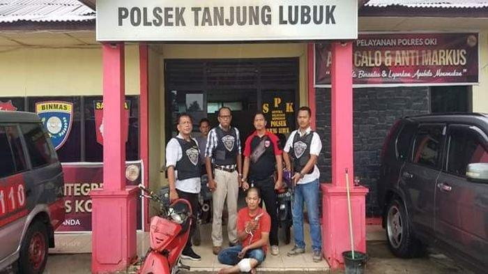 Pelaku Begal Bermodal Pistol Mainan Berhasil Ditangkap Unit Reskrim Polsek Tanjung Lubuk Resor OKI