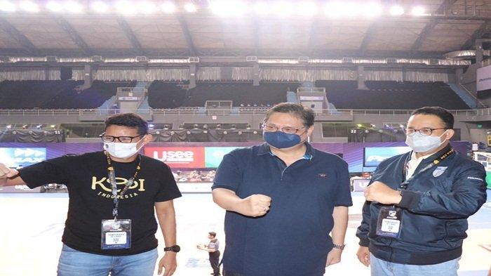 Airlangga Saksikan Laga Final IBL Antara Satria Muda Pertamina VS Pelita Jaya