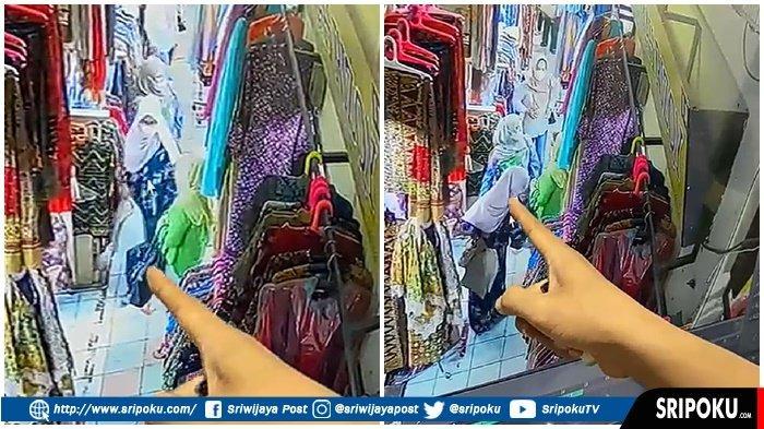 Seorang Wanita di Palembang Terekam CCTV Melancarkan Aksi Copet, Hitungan 55 Detik Raup Rp 10 Juta