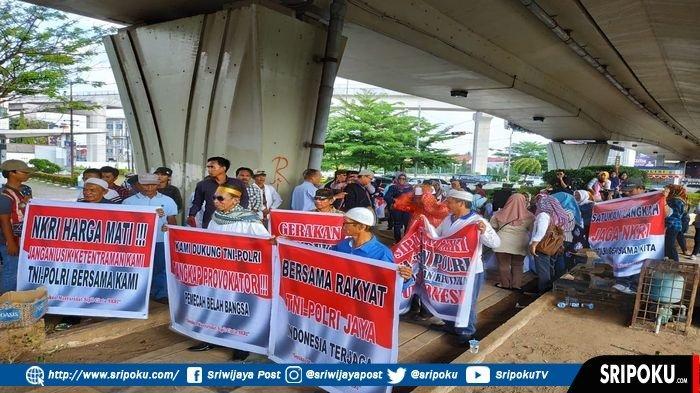 Sekelompok Warga di Palembang Gelar Aksi Dukung TNI-Polri Menjaga Kedaulatan NKRI Pasca Pemilu 2019