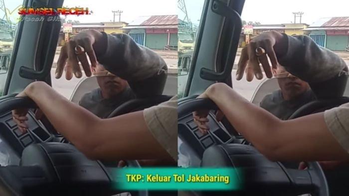 Viral Video Pemalakan Sopir di Keluar Tol Jakabaring, Ini Pesan Netizen untuk Katim Heri Gondrong