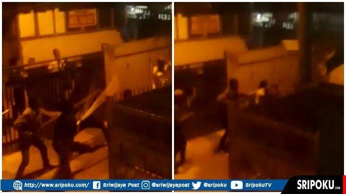 Saling Kibas-kibas Senjata, Tawuran di Kuto Batu Palembang Viral, Kapolsek IT II : Sudah Kondusif