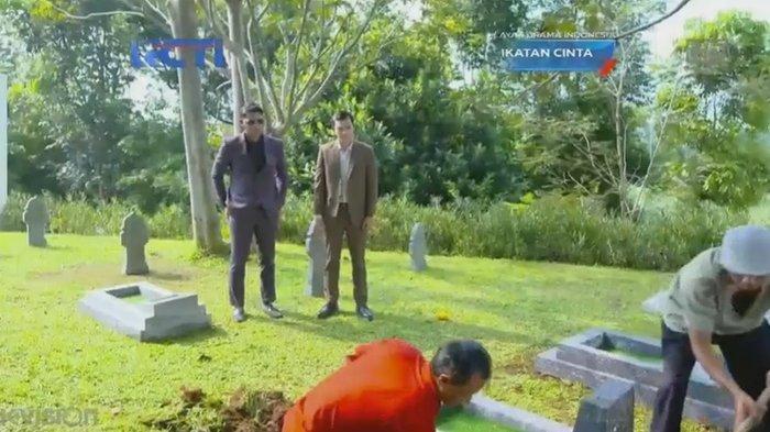 Sedang Berlangsung Sinetron Ikatan Cinta 19 April 2021:Agar Lancar Bongkar Makam Roy Mama Rosa Pergi