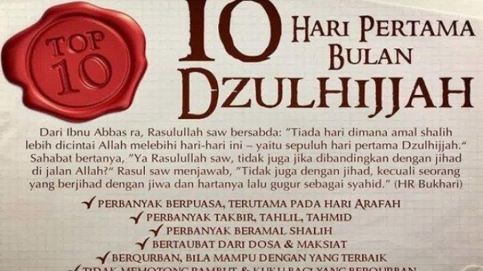 Jelang Idul Adha 1440 H, Ingat 3 Hari Lagi Puasa Tarwiyah lalu Arafah, Ini Jadwal dan Keutamaan!