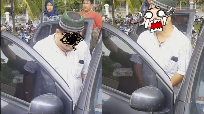 Biadab! Pria Ini Tega Aniaya Ibu Kandung Dalam Mobil di Palembang, Perhatikan Reaksinya