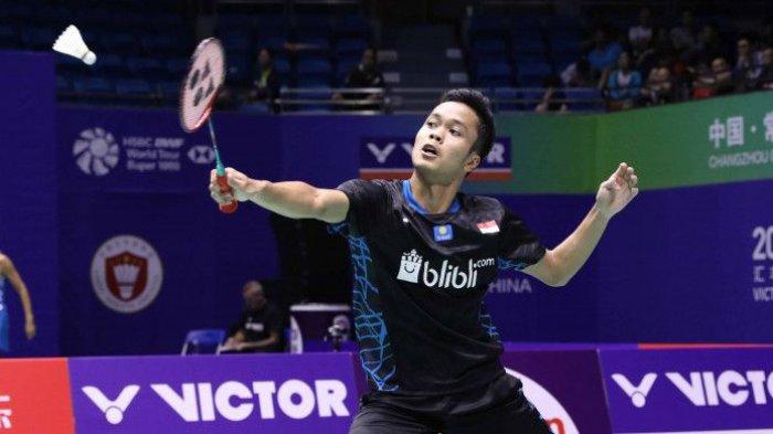 Thailand Open II 2021-Laga Sengit, Wakil Hong Kong Paksa Anthony Ginting Pulang di Perdelapan Final