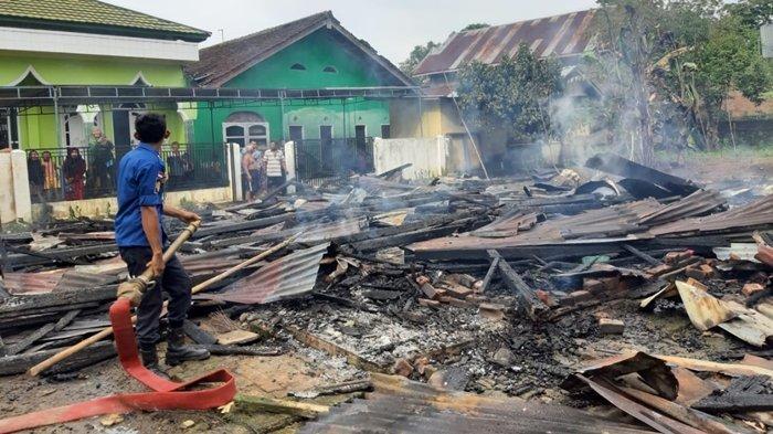 Kebakaran di Musi Rawas, Rumah Seorang Lansia di Desa T1 Bangun Sari Rata dengan Tanah