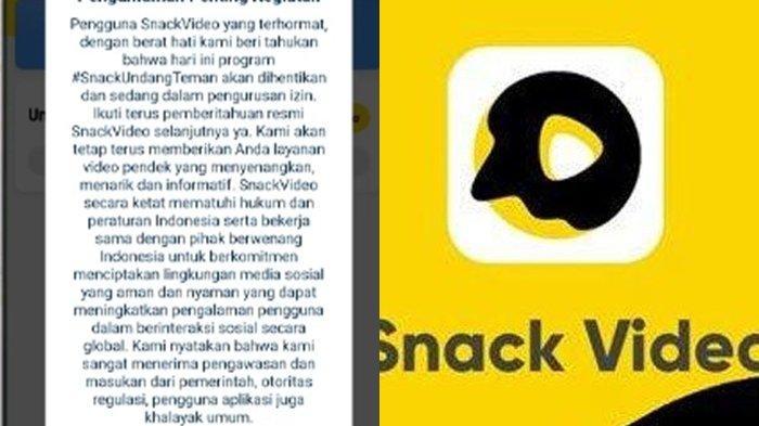 Event Undang Teman Snack Video Dihentikan, Apakah Uang yang Dikumpulkan Hilang? Ini Penjelasannya