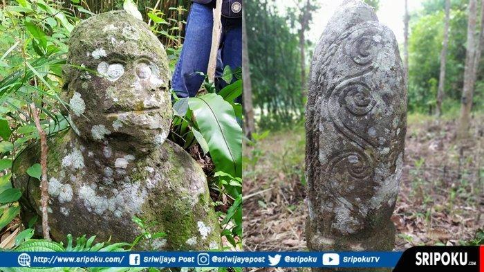 DUSUN Sekayoen, Dusun Penuh Misteri di Lahat Sumsel, ada Arca Kepala Ribuan Tahun, Ini Penampakannya