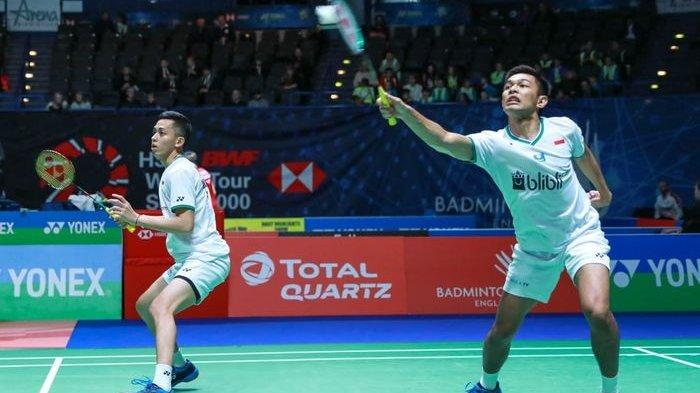 Thailand Open II 2021 - Cukup 2 Game, Ganda Putra Indonesia Tumbang di Babak I Hadapi Inggris