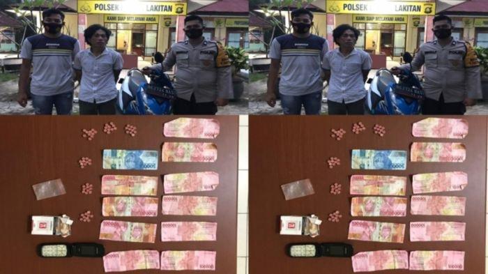 Dicegat Polisi di Depan Polsek Lakitan, Pengedar Ekstasi Asal Muba Ini Gagal Transaksi di Musirawas