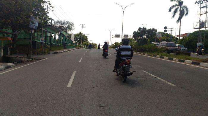 Jalan Jenderal Sudirman Palembang Ramai Lancar
