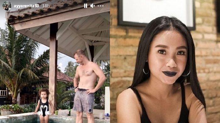 Putus dari Anwar Sanjaya, Ayya Renita Pamer Foto Pria Bule sama Anak Kecil di Kolam Berenang, Siapa?