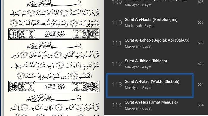 Surat Al-Falaq Ayat 1-5 dan Artinya Lengkap Tulisan Arab, Latin dan Keutamaan Tentang Waktu Subuh