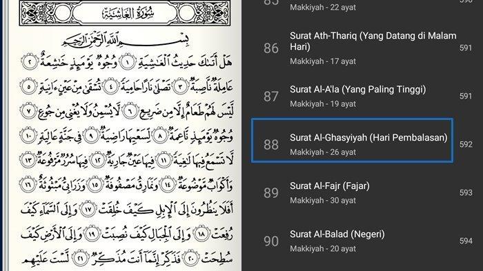 Surat Al-Ghasyiyah Ayat 1-26 dan Artinya Lengkap Tulisan Arab, Latin & Keutamaan Tentang Hari Kiamat