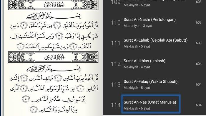 Surat An-Nas Ayat 1-6 dan Arti Lengkap Tulisan Arab, Latin, Keutamaan Berlindung dari Hasutan Jahat