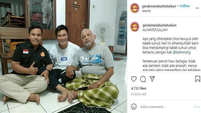 Baim Wong dan Kakek Suhud akhirnya bertemu kembali