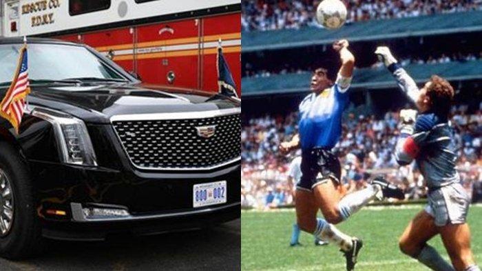 Baju Gol Tangan Tuhan Maradona Seharga Mobil Dinas Presiden AS Diburu  Kolektor, Begini Faktanya