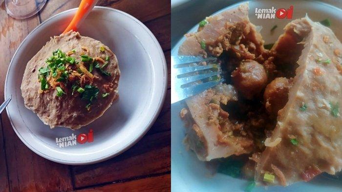 Bakso Beranak Mas Wahyu memiliki isian bakso kecil, suiran daging sapi, daging ayam serta bumbu khas Bakso Mas Wahyu yang sukses membuat tim Lemak Nian Oi ketagihan.