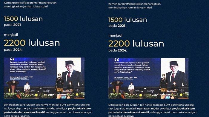 Kemenparekraf Target 2.200Lulusan Perguruan Tinggi Pariwisata, Termasuk dari Poltekpar Palembang