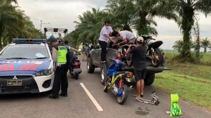 KPT Tanjung Senai Kerap Jadi Arena Balap Liar, Polisi Tindak Tegas: Kami Tilang