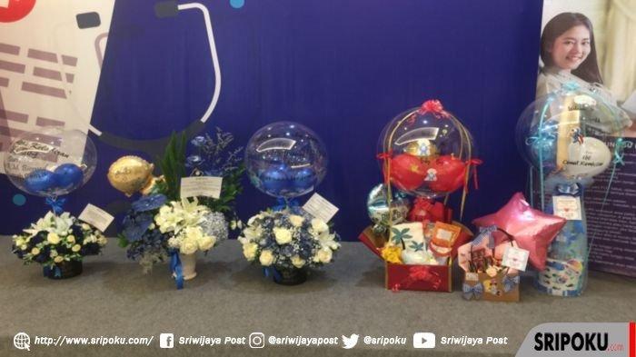 Jajaran balon ucapan selamat atas kelahiran putra Bupati Banyuasin Askolani dan istri Sri Fitriyanti, di RS Siloam Sriwijaya Palembang, Jumat (9/10/2020).