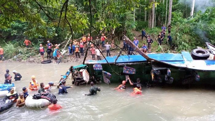 UPDATE TERKINI 34 Korban Meninggal Dunia, Bus Sriwijaya Masuk Jurang Kedalaman 80 Meter di Pagaralam