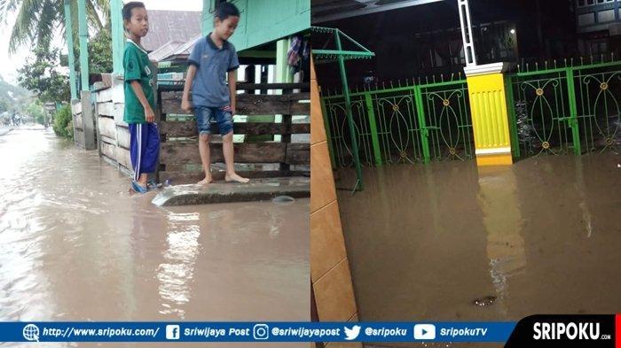 BREAKING NEWS : Tiga Desa di Empat Lawang 'Lumpuh' Terendam Banjir, Kedalaman Air Capai 1 Meter