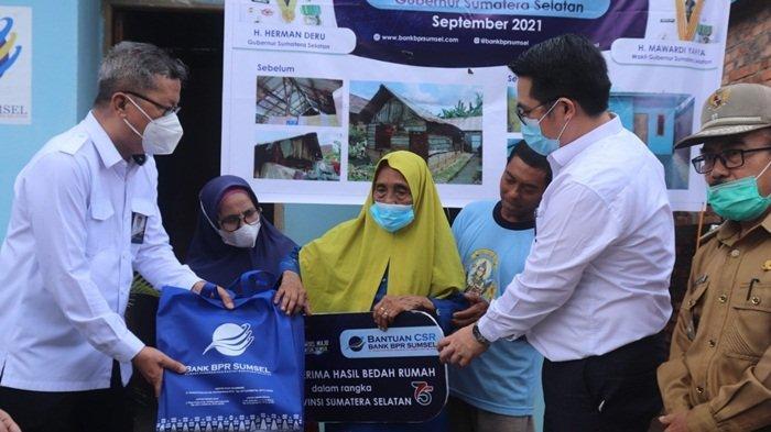 HUT Provinsi Sumsel, Bank BPR Sumsel Berikan bantuan CSR Program Bedah Rumah