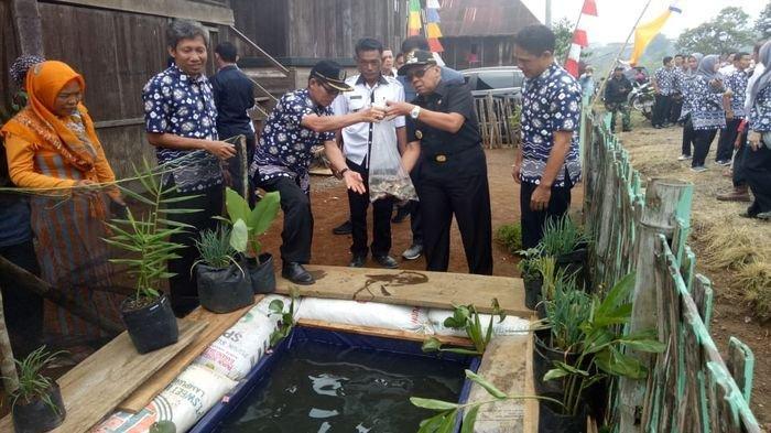 Kampanyekan Gemar Memakan Ikan, Pemkab Lahat Bantu Bibit Ikan Langsung kepada Masyarakat