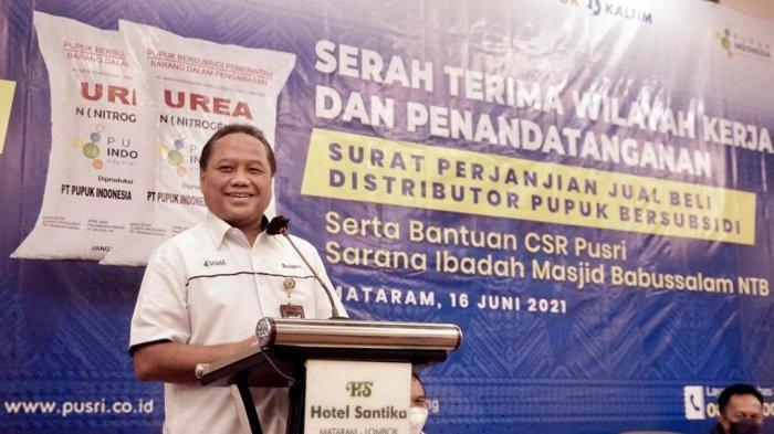 Pt Pusri lakukan penandatanganan SPJB di NTB Lombok.