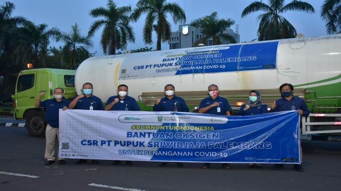 Bantu Penanganan Covid-19, PT Pusri Palembang Kirimkan Bantuan Oksigen ke DKI Jakarta dan Bandung