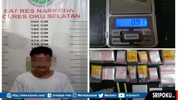 Pria Ini Pasrah Digrebek saat Hisap Sabu, Petugas Geledah Rumah Ditemukan Perlengkapan Edar Narkoba