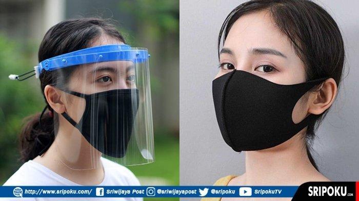 Bentuk Alat Pelindung Diri Face Shield dan Masker