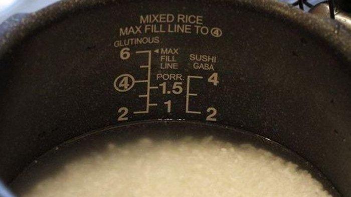 Ilustrasi beras direndam terlebih dahulu sebelum dimasak.