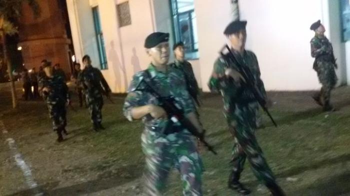 TNI Antisipasi Kemungkinan Kerawanan di  Areal Masjid Agung