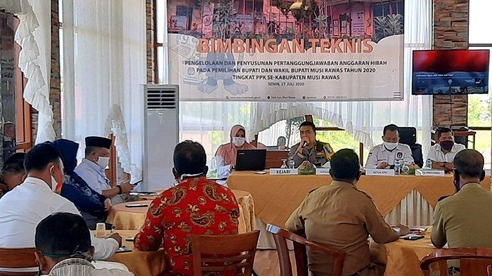 KPU Musirawas Gelar Bimtek Pengelolaan dan Pertanggungjawaban Anggaran Hibah Pilkada