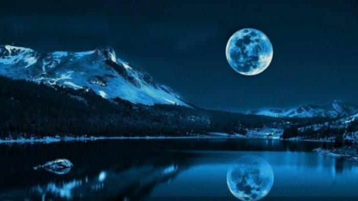 Catat, Fenomena Langka 'Bulan Biru' Muncul di Langit Palembang Besok Malam.  Jangan Sampai Lewat !