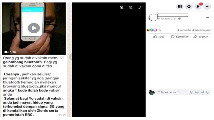 Heboh, Orang Sudah Divaksin Punya Gelombang Bluetooth Bisa Terhubung Ponsel, Kemenkes : Hoaks