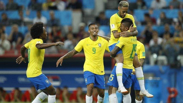 Hasil Pertandingan : Brasil Bertemu Meksiko setelah Tekuk Serbia 2-0