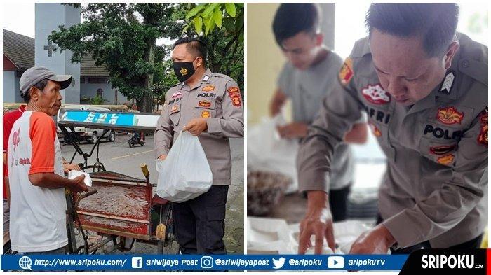 Pulang Tugas, Polisi Berpangkat Bripka Ini Rutin Bagikan Nasi Kotak Gratis ke Warga yang Membutuhkan