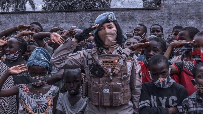 Cerita Polwan Polda Sumsel Tugas di Afrika Tengah, 3 Bulan Tidur di Tenda, Kepanasan dan Kedinginan