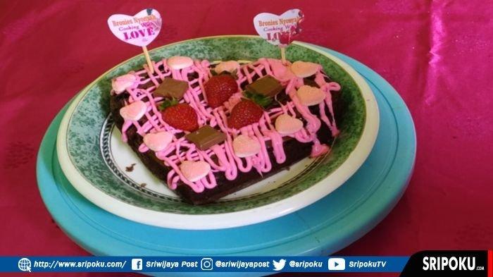 Resep dan Cara Membuat Brownies Heart untuk Hari Valentine Ala Brownies Nyonyah, Enak dan Crunchy