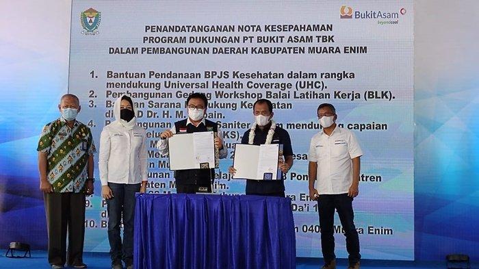 Pemkab Muaraenim Tanda Tangani MoU Dukungan PT BA Tbk Dalam Pembangunan Daerah Kabupaten Muaraenim