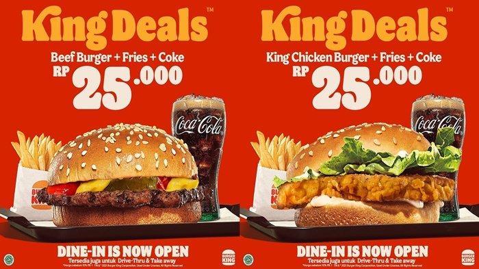 PROMO Burger King Hari Ini, Plus Minuman Hanya Rp 25 Ribu, Jangan Lewatkan Sampai 30 Oktober